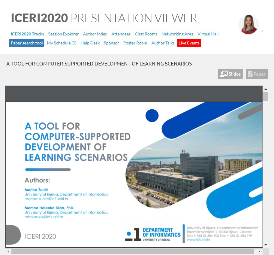 Sudjelovanje na konferenciji ICERI2020